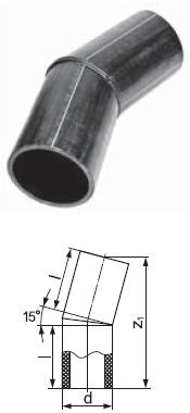 Отвод сварной сегментный 15 градусов
