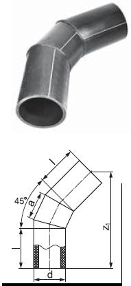 Отвод сварной сегментный 45 градусов