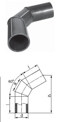 Отвод сварной сегментный 60 градусов